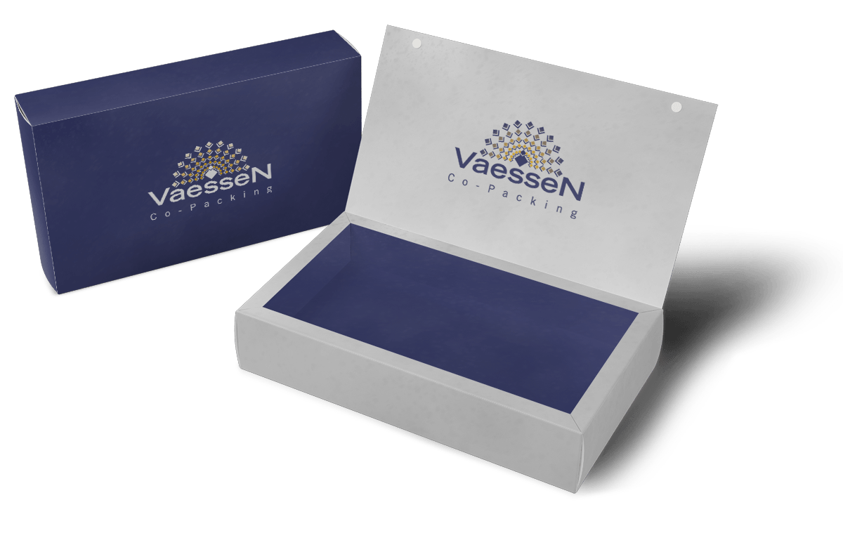 Vaessen Co-Packing gepersonaliseerde bedrukking op doosje