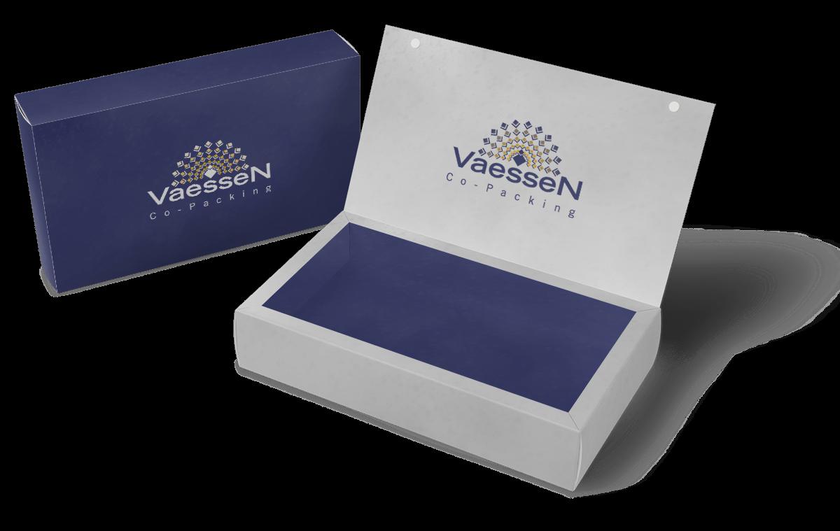 Vaessen Co-Packing gepersonaliseerde bedrukking op doosje